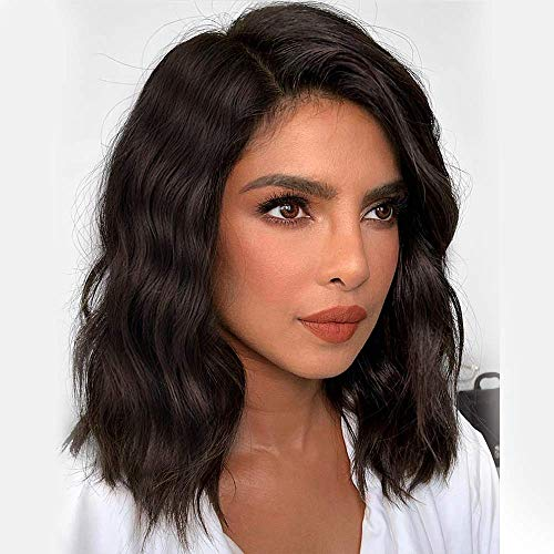 BEEOS Human Hair Wigs Full Lace Wigs 150% Density Wavy Short Bob Wig Pre-Plucked & Bleached Knots...