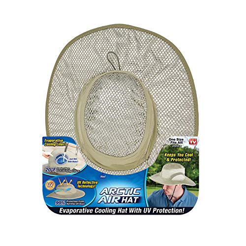 Ontel Arctic Air Hat, Evaporative Cooling Hat with UV Protection, Beige, One Size