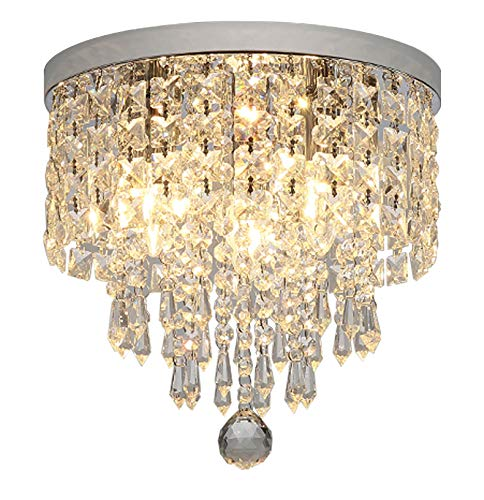 Hsyile KU300142 Modern Chandelier Crystal Ball Fixture Pendant Ceiling Lamp H9.84' X W9.84',for...