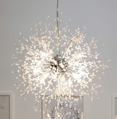GDNS Chandeliers Firework LED Light Stainless Steel Crystal Pendant Lighting Ceiling Light Fixtures...
