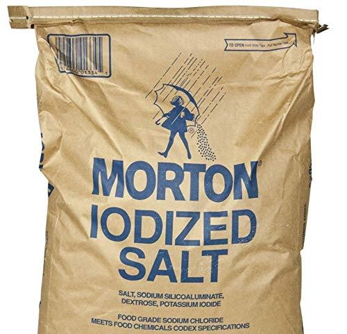 Morton Iodized Table Salt - Bulk - Five Pounds
