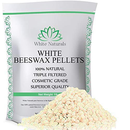 White Beeswax Pellets 1 lb (16 oz), Pure, Natural, Cosmetic Grade, Top Quality Bees Wax Pastilles,...