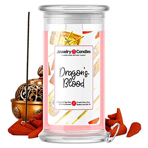 Jewelry Candles | Jewel Valued at $15 - $7,500 | Large Long Lasting 21oz Jar Soy Candle | Hand...