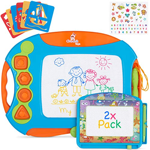 CHUCHIK Magnetic Drawing Board Set for Kids and Toddlers. Large 15.7 Inch Magna Doodle Writing Pad...