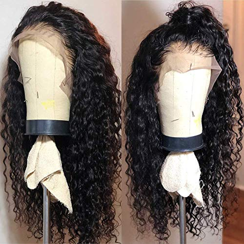 Fureya Long Loose Curly Glueless Lace Front Wigs for Women Heat Resistant Fiber Synthetic Hair with...