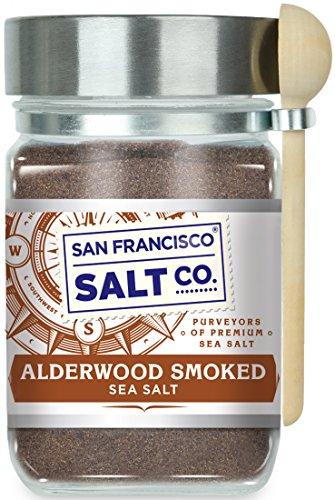 Alderwood Smoked Sea Salt - 8 oz. Glass Chef's Jar by San Francisco Salt Company