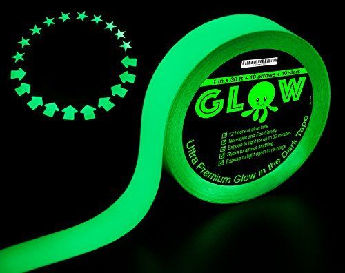 Best Glow in the Dark Tape for Safety, Stairs, Light Switches, Stage, Theatrical, Theater, Exits,...