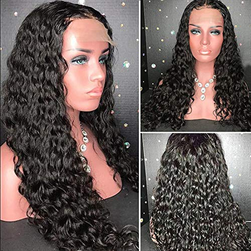 YMS Full Lace Human Hair Wigs Pre Plucked and Bleached Knots 150% Density Curly Brazilian Human Hair...